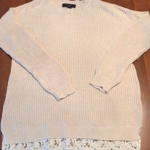Forever 21 size medium knit sweater w/ lace bottom